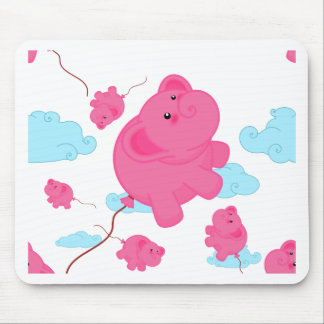 Kawaii Super Cute Flying Funny Elephant Balloon Mouse Pad