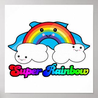 kawaii super rainbow posters
