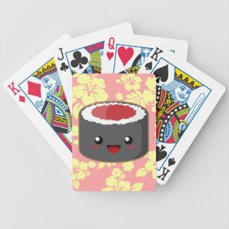 Kawaii Sushi Bicycle Playing Cards