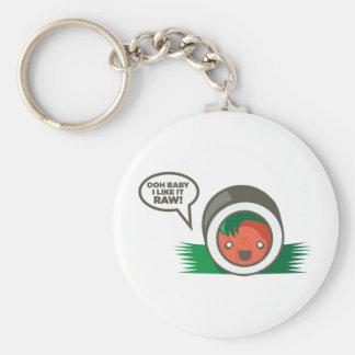 Kawaii Sushi- Ooh Baby I Like it Raw Basic Round Button Keychain