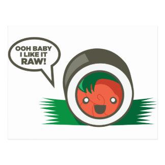 Kawaii Sushi- Ooh Baby I Like it Raw Postcard