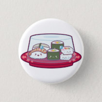 Kawaii Sushi Plate Button