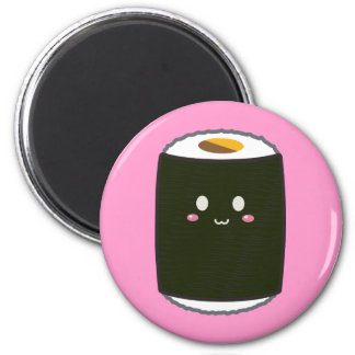 Kawaii Sushi Roll 2 Inch Round Magnet
