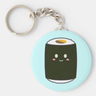 Kawaii Sushi Roll Basic Round Button Keychain