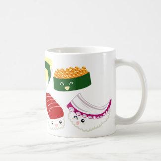 Kawaii Sushi with faces Coffee Mug