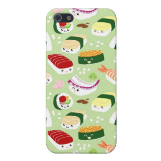 Kawaii Sushi with faces Cover For iPhone SE/5/5s