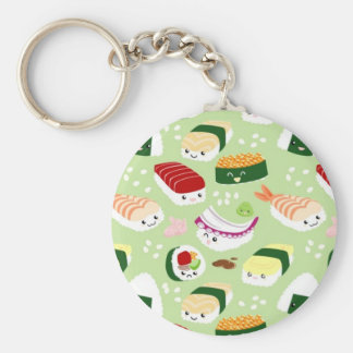 Kawaii Sushi with faces Keychains