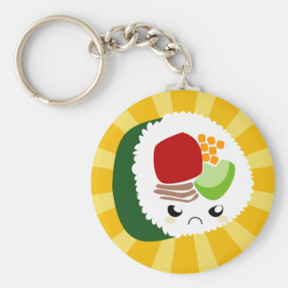 Kawaii Sushi with faces Key Chain