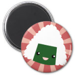 Kawaii Sushi with faces Refrigerator Magnets