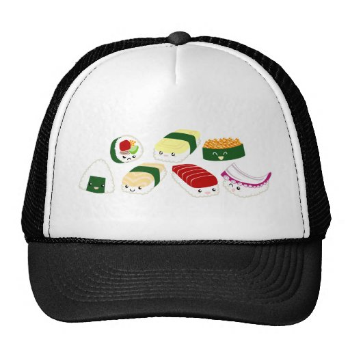 Kawaii Sushi with faces Trucker Hat
