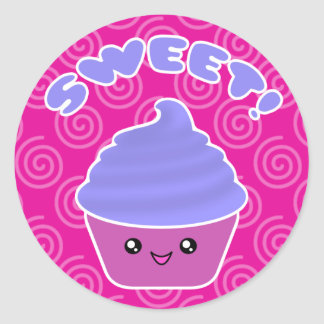Kawaii Sweet Cupcake Stickers