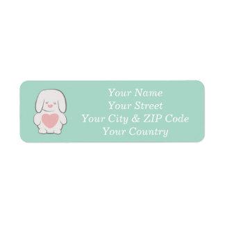 Kawaii Sweet Cute Bunny Label