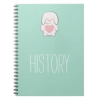 Kawaii Sweet Cute Bunny Spiral Notebook