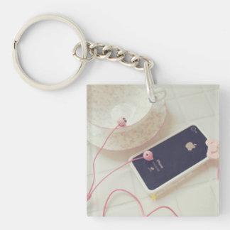 Kawaii Sweet Cute Square (single-sided) Keychain