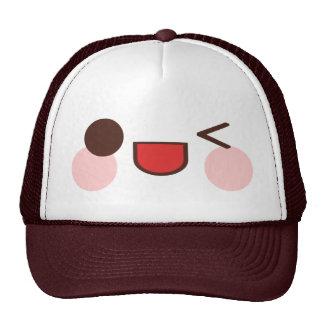 Kawaii Sweet Winky Face Happy Eyes Smile Friend Trucker Hats