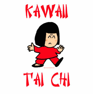 kawaii tai chi t'ai cute martial arts cutout