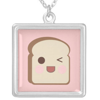 Kawaii Tasty Toast Bread Sterling Silver Necklace