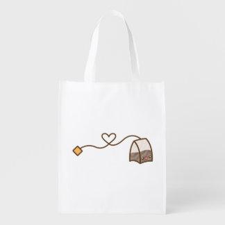 Kawaii Tea Bag Grocery Bags