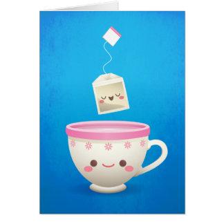 Kawaii Tea Time Stationery Note Card