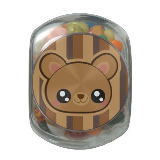 Kawaii teddy bear candy tin