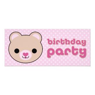 Kawaii Teddy Bear Cute Birthday Party Invitations