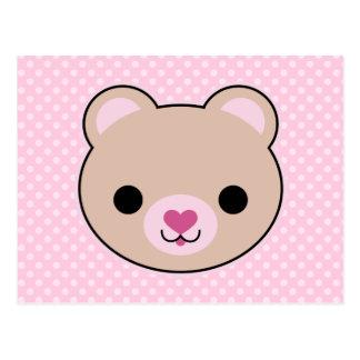 Kawaii Teddy Bear Cute Postcard
