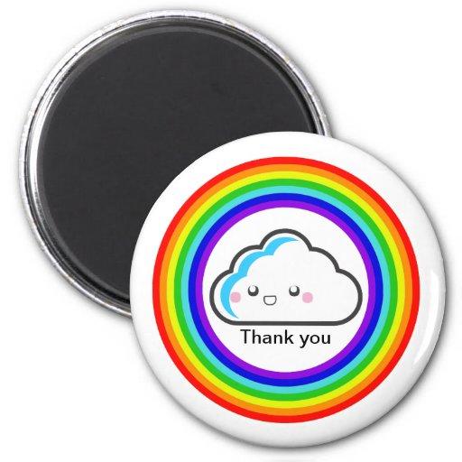 KAWAII thank you rainbow magnet by thecutescream