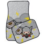 Kawaii Thor With Lightning Car Mat