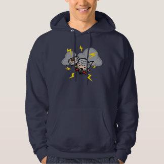 Kawaii Thor With Lightning Hoodie