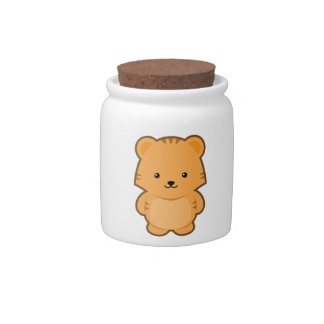 Kawaii Tiger Candy Jar