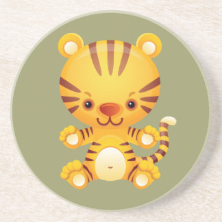 Kawaii Tiger Drink Coaster