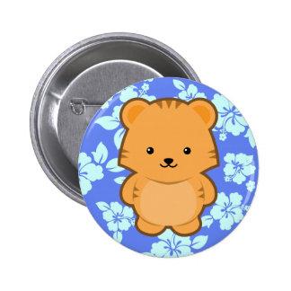 Kawaii Tiger Pinback Button