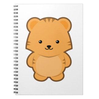 Kawaii Tiger Spiral Notebook