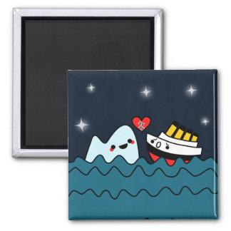 Kawaii Titanic Ship Iceberg Heartbroken Magnet