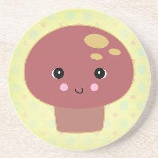 kawaii toadstool mushroom coasters