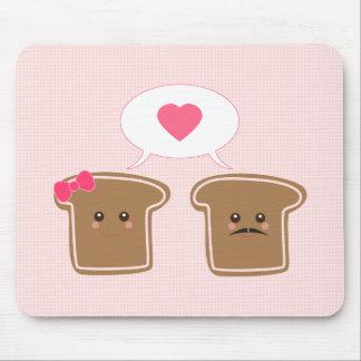 Kawaii Toast Love Mouse Pad