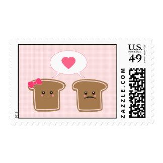 Kawaii Toast Love Stamp