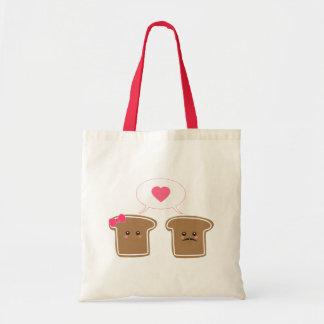Kawaii Toast Love Tote Bag