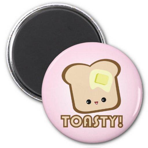 ¡Kawaii Toasty! Imán de la tostada