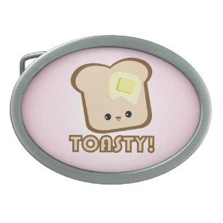 Kawaii Toasty! Toast belt buckle