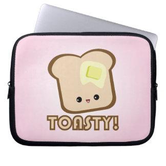 Kawaii Toasty! Toast laptop sleeve