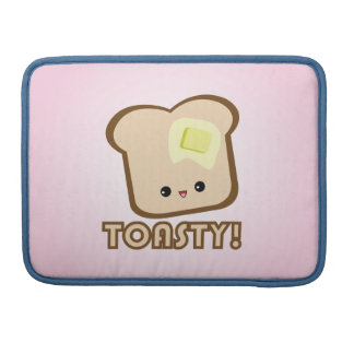 Kawaii Toasty! Toast Macbook Pro MacBook Pro Sleeve