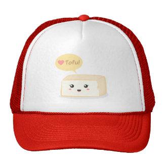 Kawaii tofu asking people to love tofu trucker hat