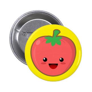 Kawaii Tomato Pinback Buttons