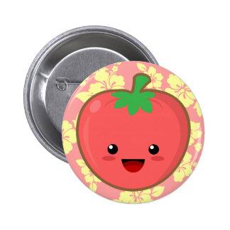 Kawaii Tomato Button