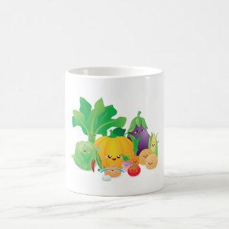 Kawaii Too Cute to Eat Veggies Coffee Mug