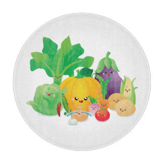 Kawaii Too Cute to Eat Veggies Cutting Board