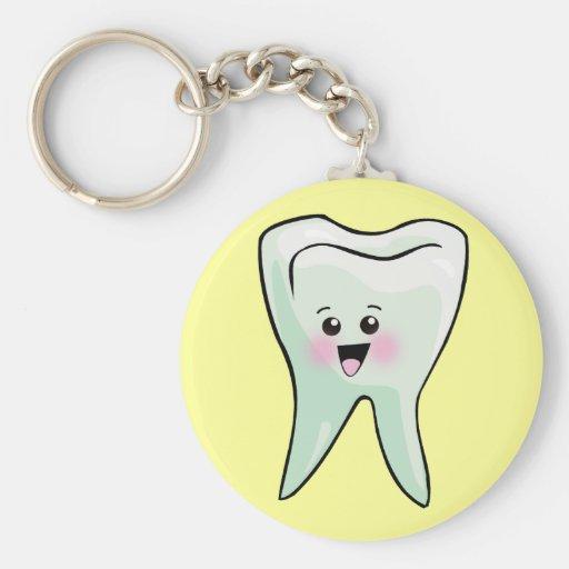 Kawaii Tooth Dental Art Basic Round Button Keychain