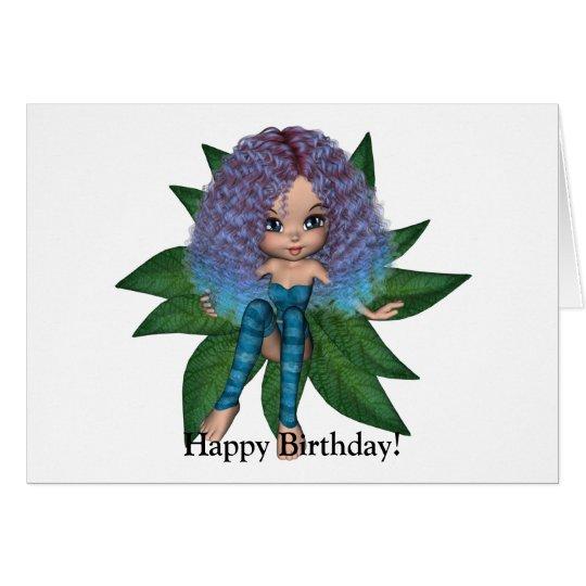 Kawaii Tree Nymph Happy Birthday Card