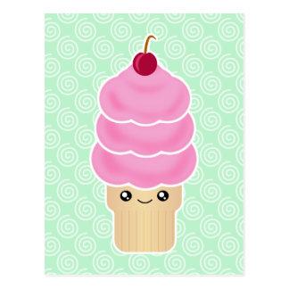 Kawaii triple scoop ice cream post cards